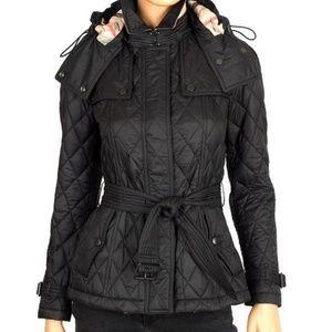 Burberry Finsbridge Nova Check Lined Quilted Coat